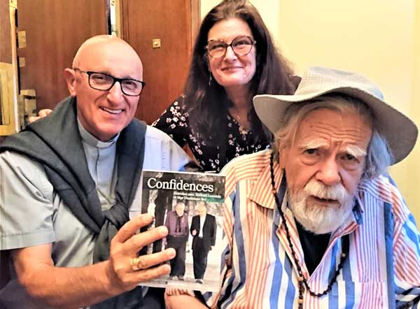 Avec Mgr Dominique Rey et Anna Conrad, lors de sa dernière sortie avec des amis, le 16 septembre 2020 © Antoine Bordier