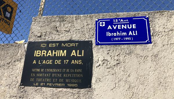 Marseille : une avenue Ibrahim Ali inaugurée, bientôt une journée municipale contre le racisme et pour l'égalité ?