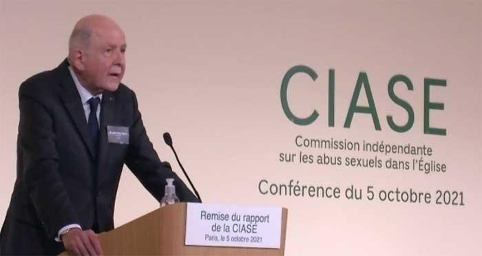 La Commission indépendante sur les abus sexuels dans l'Eglise (CIASE), présidéée par Jean-Marc Sauvé (à l'image), a rendu public son rapport choc mardi 5 octobre.