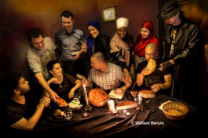 Une des photos réalisées par William Barylo, en vue de la campagne « Nous sommes la Nation », lancée par le Collectif contre l'islamophobie en France (CCIF) en novembre 2012. Celle-ci n'a finalement pas été retenue, mais son auteur a voulu faire partager sa genèse.