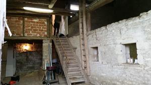 L'intérieur de la maison à réhabiliter.