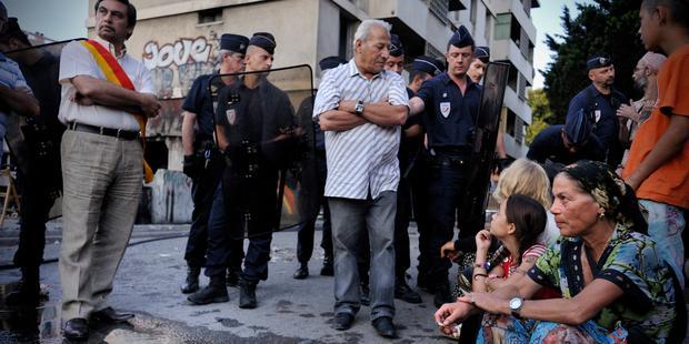 Expulsion forcée de Roms à Marseille, France, juillet 2013.© Raphaël Bianchi.