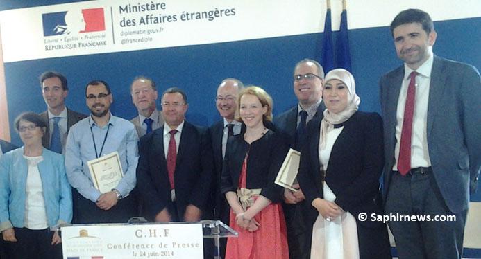 Les membres de la CHF aux côtés des représentants du Quai d'Orsay.