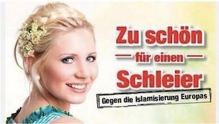 L'affiche islamophobe du parti d'extrême droite autrichien, le FPÖ.