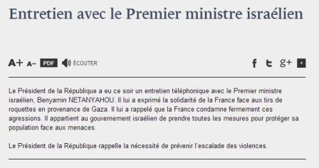 Gaza bombardée par Israël, Hollande encourage Netanyahou