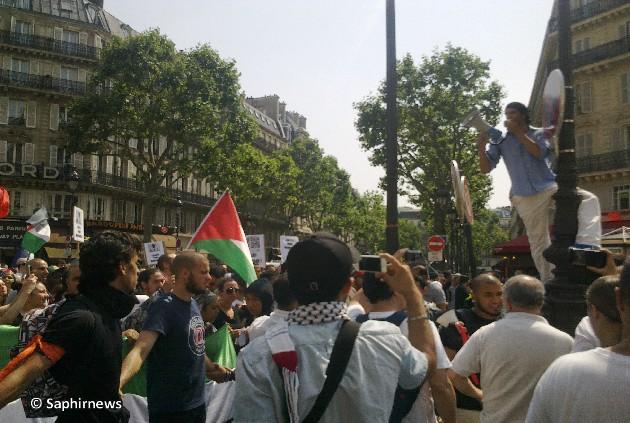 Manif interdite pour Gaza : Paris proteste en images