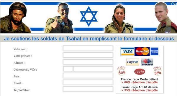 Une campagne indécente de dons pour Tsahal défiscalisés