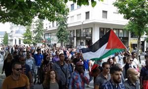 La manifestation pro-palestinienne à Nantes, samedi 12 juillet.