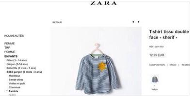Zara retire des ventes un tee-shirt rappelant la Shoah