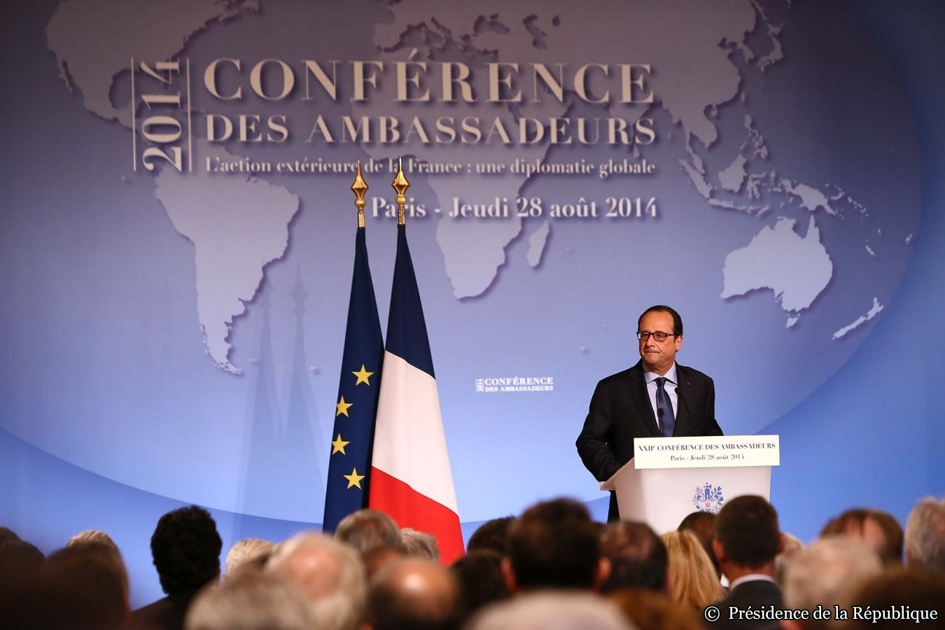 Gaza, Etat islamique, Libye... les dossiers chauds du Proche et Moyen-Orient vus par Hollande