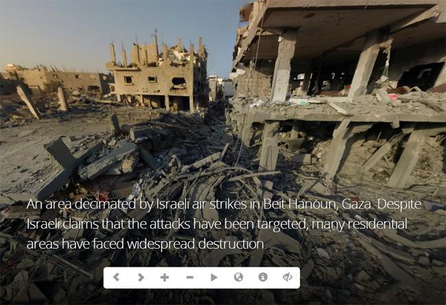 Visite virtuelle dans les ruines de Gaza bombardée