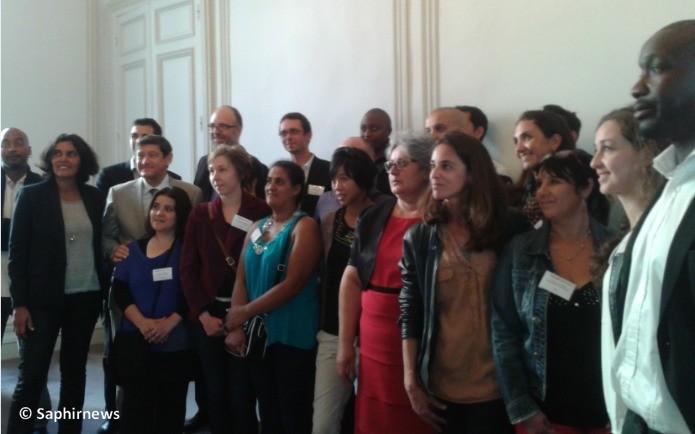 Les 20 lauréats régionaux, avec Patrick Kanner et Myriam El Khomri