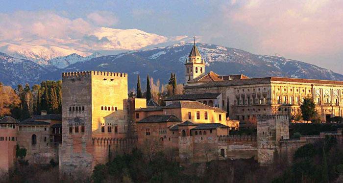 L'Alhambra de Grenade en Espagne.