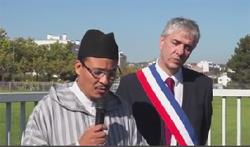 Amine Nejdi, le président du Conseil régional du culte musulman de Lorraine (CRCM), et Stéphane Hablot, le maire PS de Vandœuvre-lès-Nancy, samedi 27 septembre.