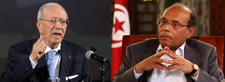 Béji Caïd Essebsi face à Moncef Marzouki au second tour de l'élection présidentielle tunisienne 2014.