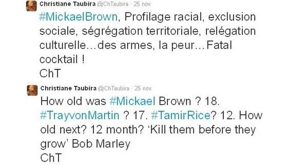 De Ferguson à Paris : Christiane Taubira, une indignation à géographie variable