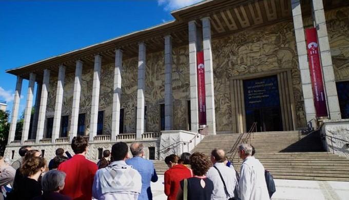 Palais de la Porte Dorée. Visite de groupe. © Matthieu Nouvel, EPPPD.