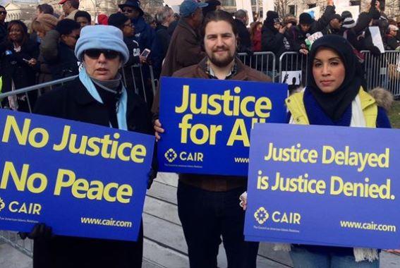 Des membres du CAIR, à Washington DC.