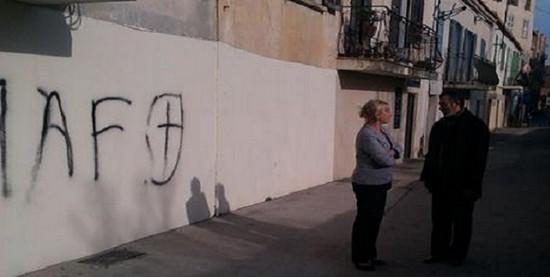 Un lieu de culte musulman profanée en décembre 2014 en Corse.