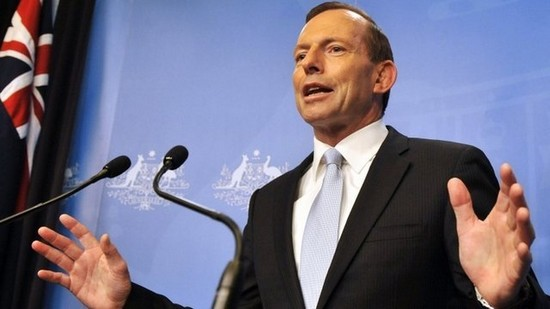 Tony Abbott, le Premier ministre australien, s'est attiré les foudres des responsables de la communauté musulmane, accusés de ne pas assez condamner l'extrémisme, le 23 février.