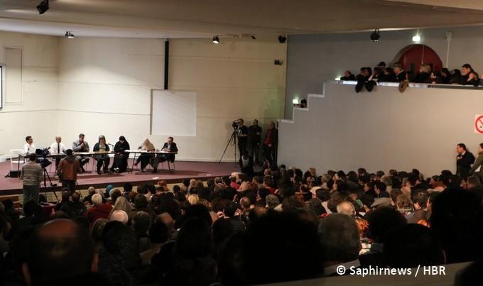 Le meeting contre l'islamophobie et la guerre sécuritaire s'est tenu avec succès le 6 mars à Saint-Denis. © Saphirnews