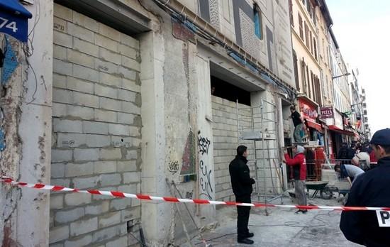 Une mosquée de Marseille murée mardi 10 mars. © Fabien Le Dû / Radio France