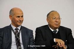 Amar Lasfar, président de l'UOIF, et Dalil Boubakeur, président du CFCM, ensemble à la 32e RAMF. © Saphirnews/HBR