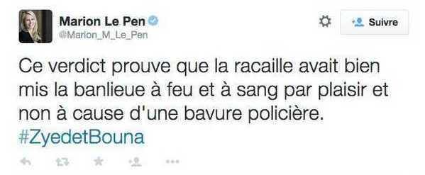 Zyed et Bouna : réponse à Marion-Maréchal Le Pen