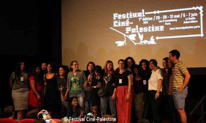 Le Festival Ciné-Palestine (FCP), ici avec l'équipe, a pris fin dimanche 7 juin à Aubervilliers, en région parisienne. Une trentaine de films palestiniens ont été alors projetés.