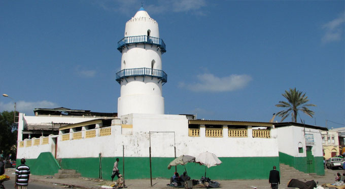 La mosquée Hamoudi, à Djibouti.