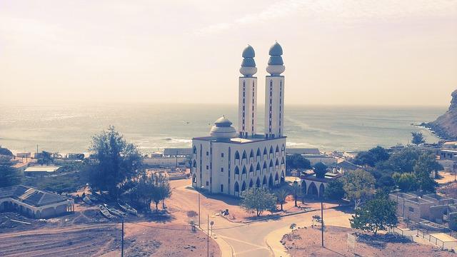 La mosquée de Ouakam, à Dakar.
