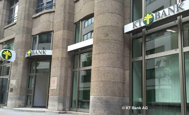 Avec une population de 4,3 millions de musulmans, l'Allemagne a sa première banque islamique depuis le 1er juillet 2015 : la KT Bank. Ici, l'agence de Francfort. (Photo : © KT Bank AG)