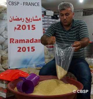 Gaza étant sous blocus, impossible d'y acheminer des dons en nature. Le CBSP, qui fête cette année ses 25 ans, consacre 500 000 € à la campagne Ramadan. (Photo : © CBSP)