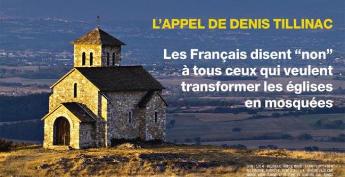 « Touche pas à mon église ! », l'appel lancé par Valeurs actuelles qui en fait sa Une du 9 juillet.