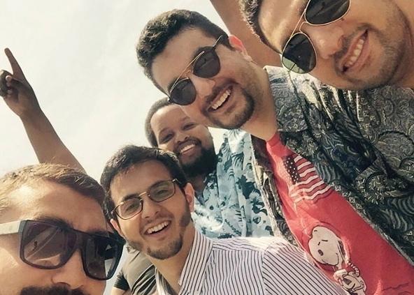 La dernière photo de Bashir Osman et ses amis en Suisse, postée sut les réseaux sociaux.