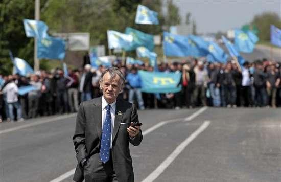 Les Tatars de Crimée, hostile à la Russie, sont alliés au régime de Kiev. Ici, un de leurs leaders, Mustafa Abdülcemil Kırımoglu.