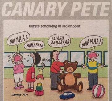 """Une autre caricature islamophobe publiée dans """"Het Belang Van Limburg""""."""
