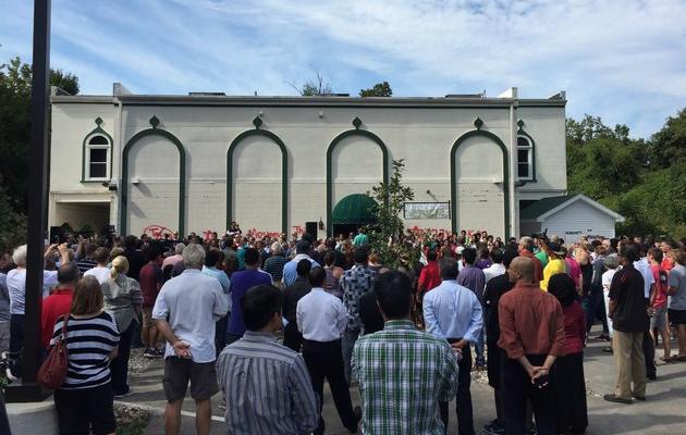 USA : un grand rassemblement contre des graffitis islamophobes