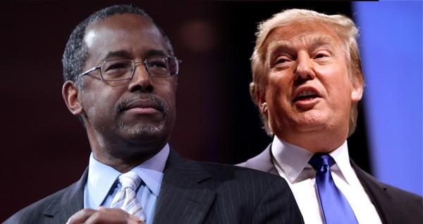 Ben Carson (à g.), un des favoris des sondages aux primaires républicaines derrière le milliardaire Donald Trump.