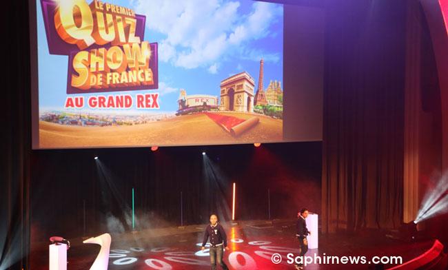 L'équipe de Deen Factor s'est installée pour un soir, celui du 31 octobre, au Grand Rex pour animer le quizz show.