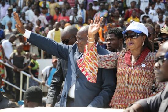 Karim Meckassoua, un des candidats à la présidentielle en Centrafrique, le 27 décembre.