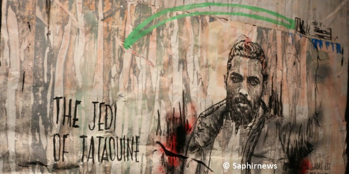 Combo incarnant son personnage musulman en jedi de Tataouine. © Saphirnews