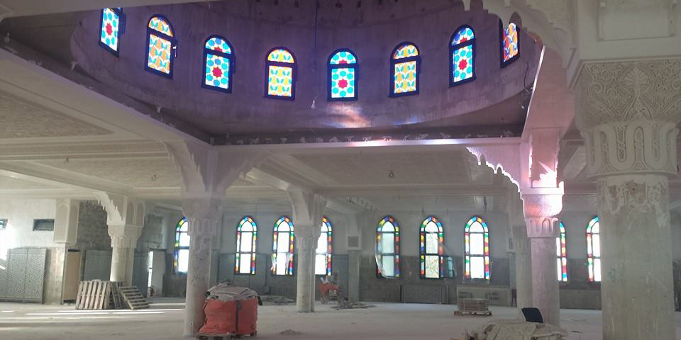 La mosquée Othmane Ibn Affane de Mantes-la-Jolie (Yvelines) en travaux.