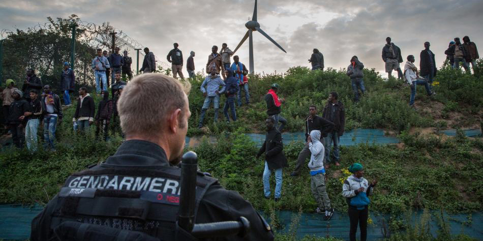 En France, à Calais. © Getty Image