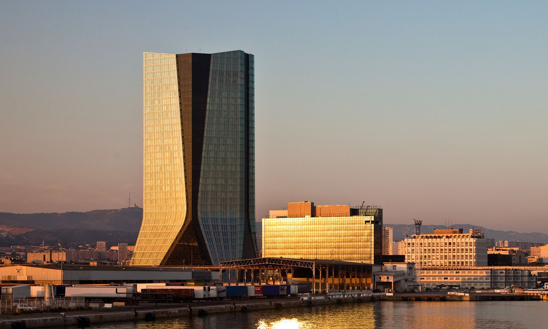 Siège de la compagnie maritime CMA-CGM à Marseille.
