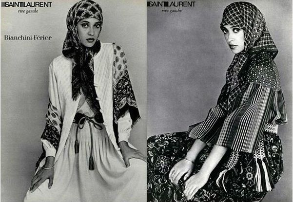 Collection Rive Gauche de Yves Saint-Laurent datant de 1976.