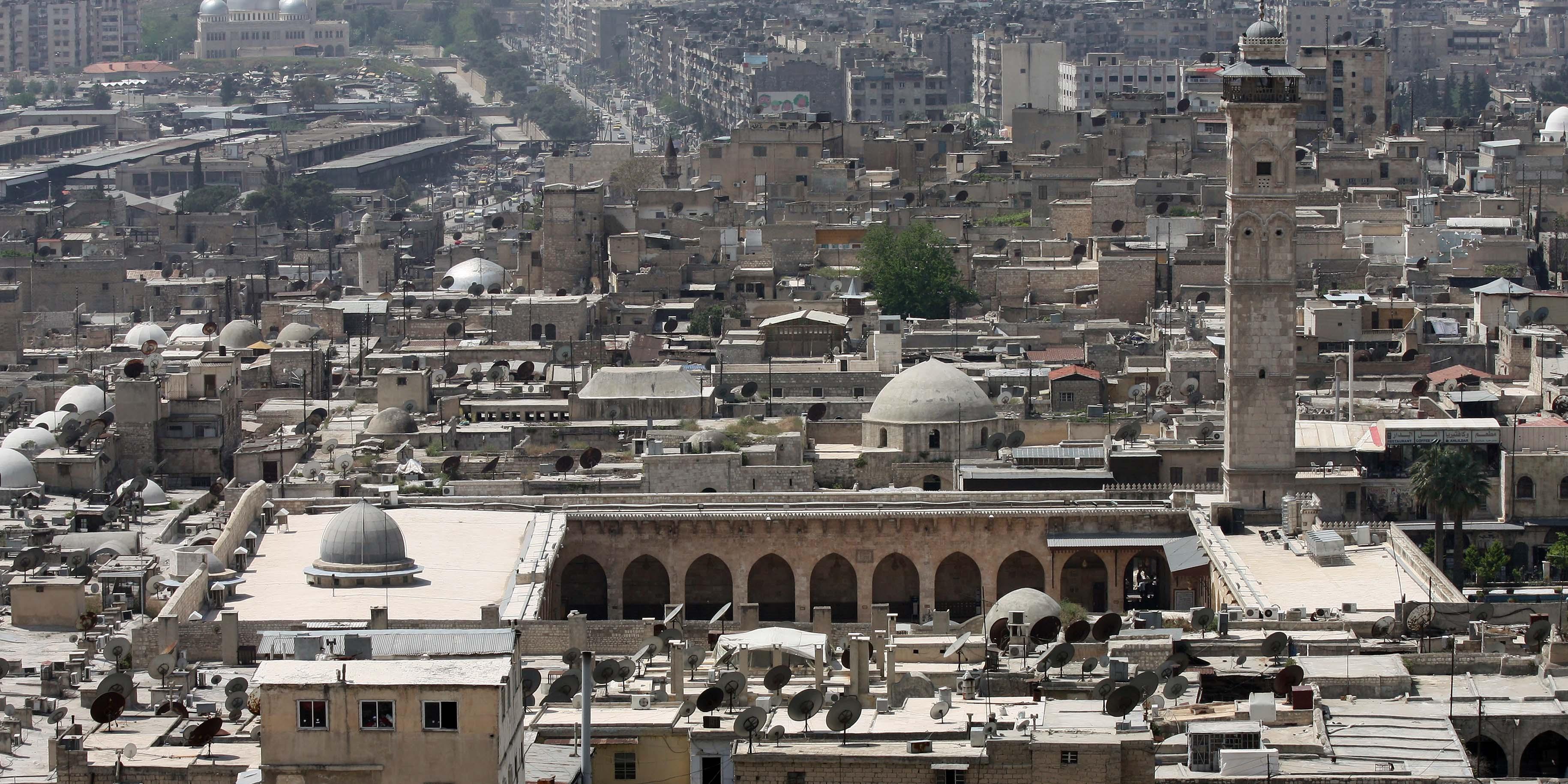 La Mosquée des Omeyyades à Alep en 2010.