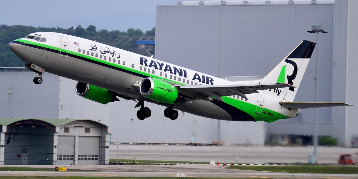 Image révolue d'un avion de la compagnie malaysienne Rayani Air.