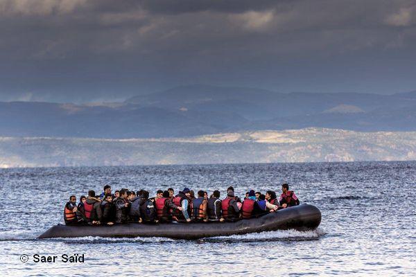 Traversée quotidienne de la mer Egée entre la Grèce et la Turquie. Lesbos (Grèce), octobre 2015. © Saer Saïd
