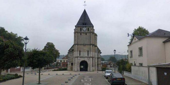 L'église de Saint-Etienne-du-Rouvray.
